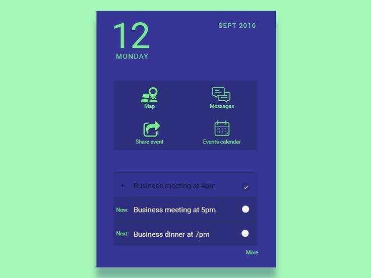 User interface by @MadyTzn