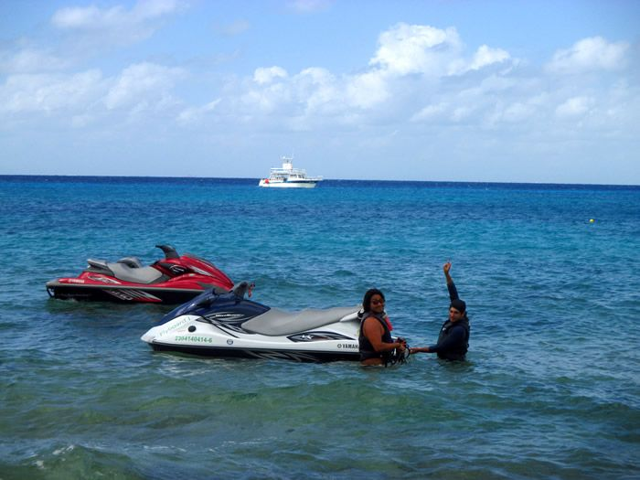 The complete equipment of Flyboard Cozumel at Villa Blanca beach in Cozumel, Mexico