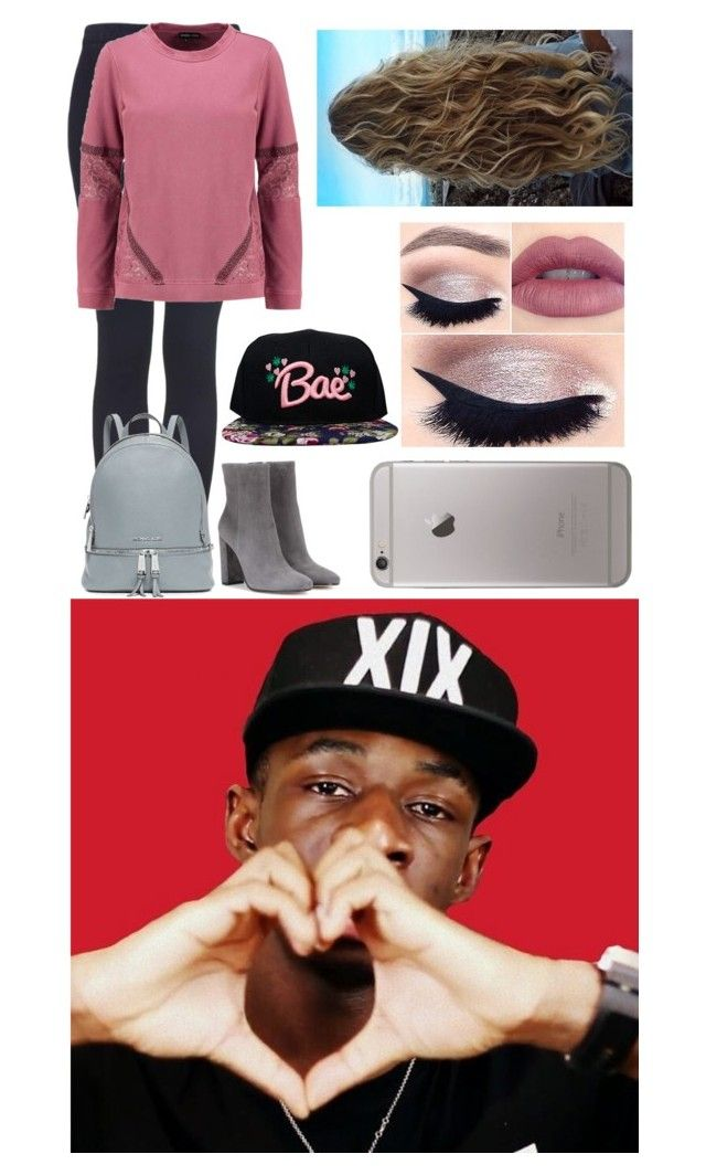 """""""Filming The Best Friend Tag With Your Best Friend Tobi"""" by glitterbelle11 ❤ liked on Polyvore featuring By Zoé, Topshop, even&odd, tarte, MICHAEL Michael Kors, Gianvito Rossi and The High Rise"""