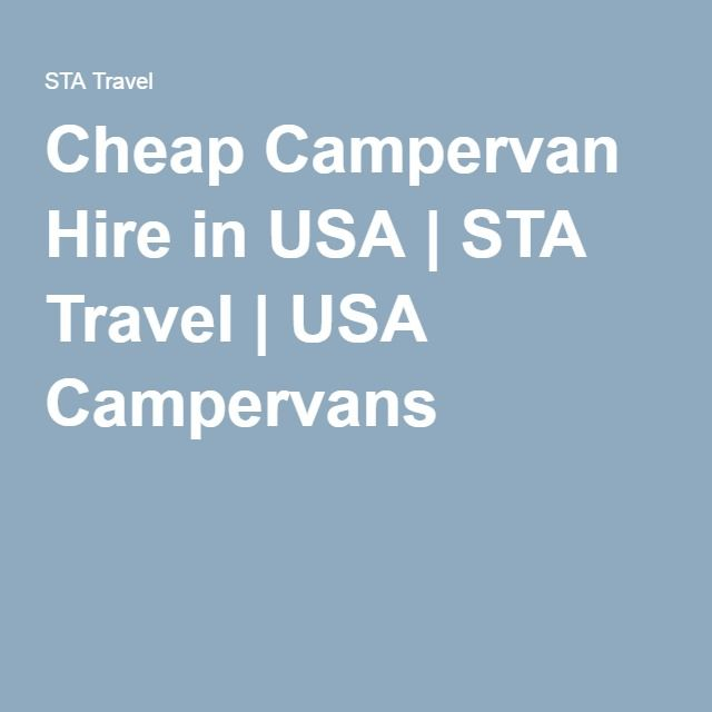 Cheap Campervan Hire in USA | STA Travel | USA Campervans