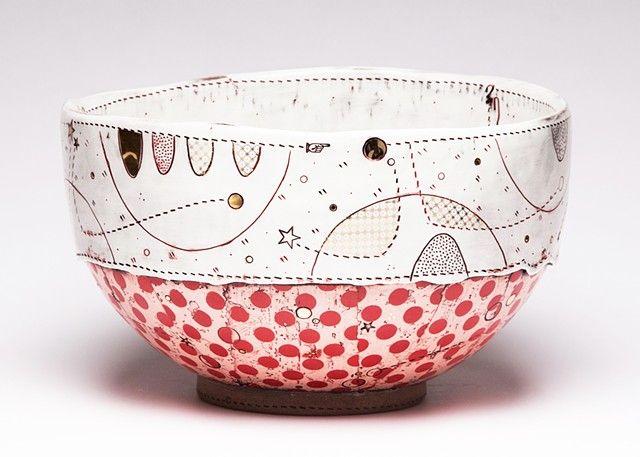 JASON BIGE BURNETT - Red Serving Bowl i am in love