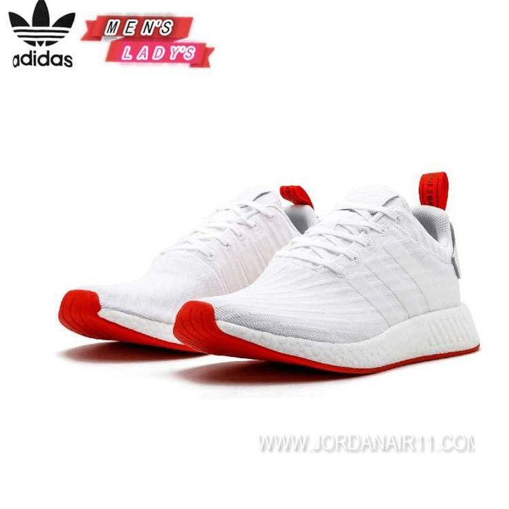【25-28】 アディダスオリジナルス NMD_R2 エヌエムディー アールツーブースト adidas Originals NMD_R2 Primeknit ba7253 White/Red MENS ランニングホワイト/ランニングホワイト/コアレッド メンズ ランニングシューズ