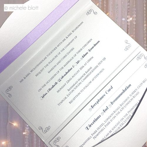 Elegant Wedding Stationery by Michele Blott. Designer Wedding Invitations without the Designer Price Tag! We specialise in creating the perfect invitations.