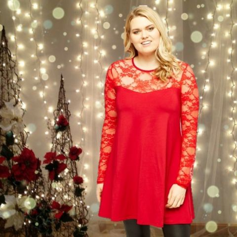 Red Swing Dress  #skaterdress #fashion #style #shopping #blackfriday #sale #christmas #party #plussize  #plussizefashion