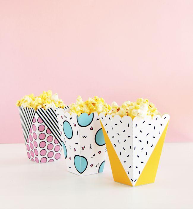Pop Printable Popcorn Snack Box   DESIGN IS YAY!