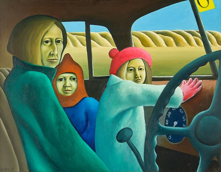 The Family in the Van by Michael Smither - 1971