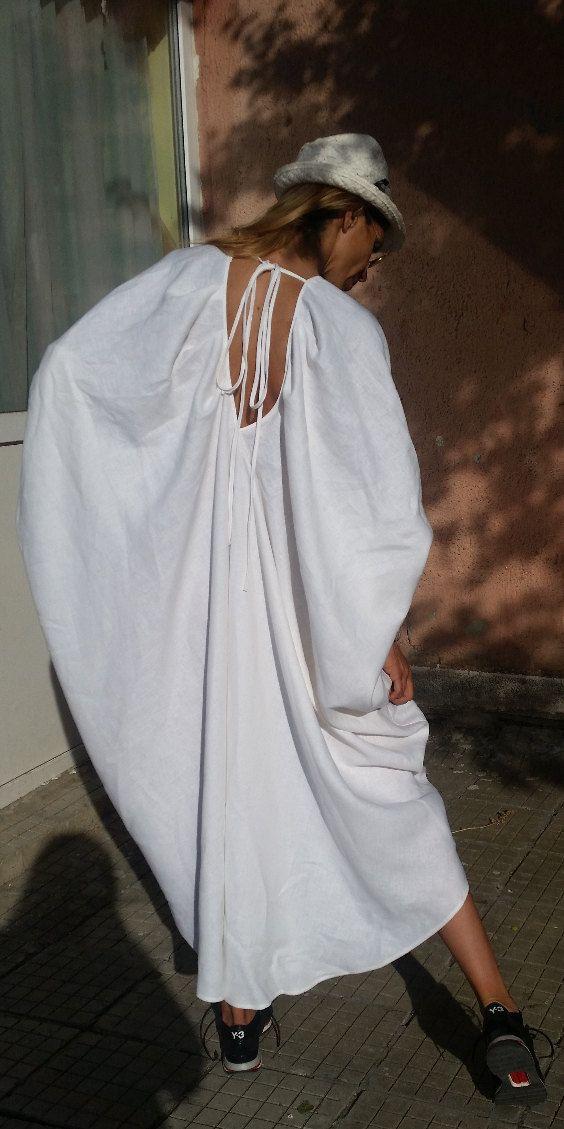 XXXL.. Maxi - estate Drapped Sexy Party Dress - Abito in lino Plus Size elegante tunica Boho stravagante  Tessuto Lino  Taglia S, M, L, XL, XXL, XXXL TAGLIA XS (US 2, UK 6, 36 Italiano, francese 34 32, Giappone 3) busto: misura busto circa 85cm/33,5  Vita: si inserisce la vita intorno 26/ 66cm Fianchi: misura fianchi intorno 36/ 91cm Per altezza: 53 / 160cm intorno  TAGLIA S (US 6, UK 10, 40 Italiano, francese 38 36, Giappone 7) busto: misura busto circa 90cm (35,5 Vita: s...