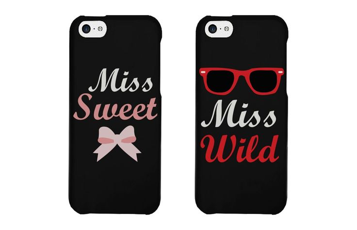 BFF Phone Covers - Miss Sweet and Miss Wild Matching Phone Cases for iphone 4, iphone 5, iphone 5C, iphone 6, iphone 6 plus, Galaxy S3, Galaxy S4, Galaxy S5:Amazon:Cell Phones & Accessories