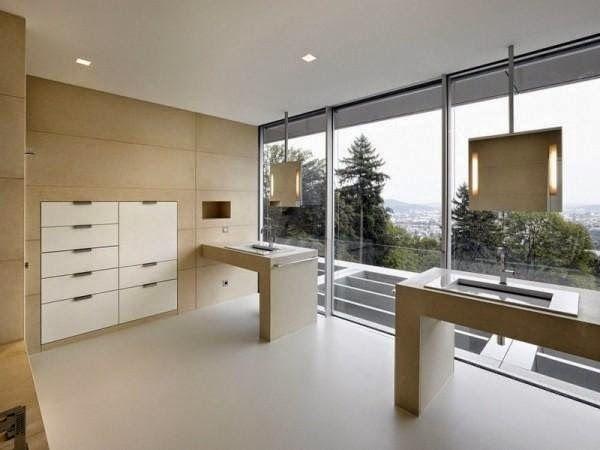 EV DEKORASYON HOBİ: Linz'de panoramik manzaralı modern ev tasarımı
