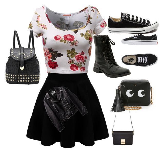 """""""The cool girls"""" by madison-riley-lewis on Polyvore featuring beauty, Converse, Vans, Anya Hindmarch and Jaeger"""