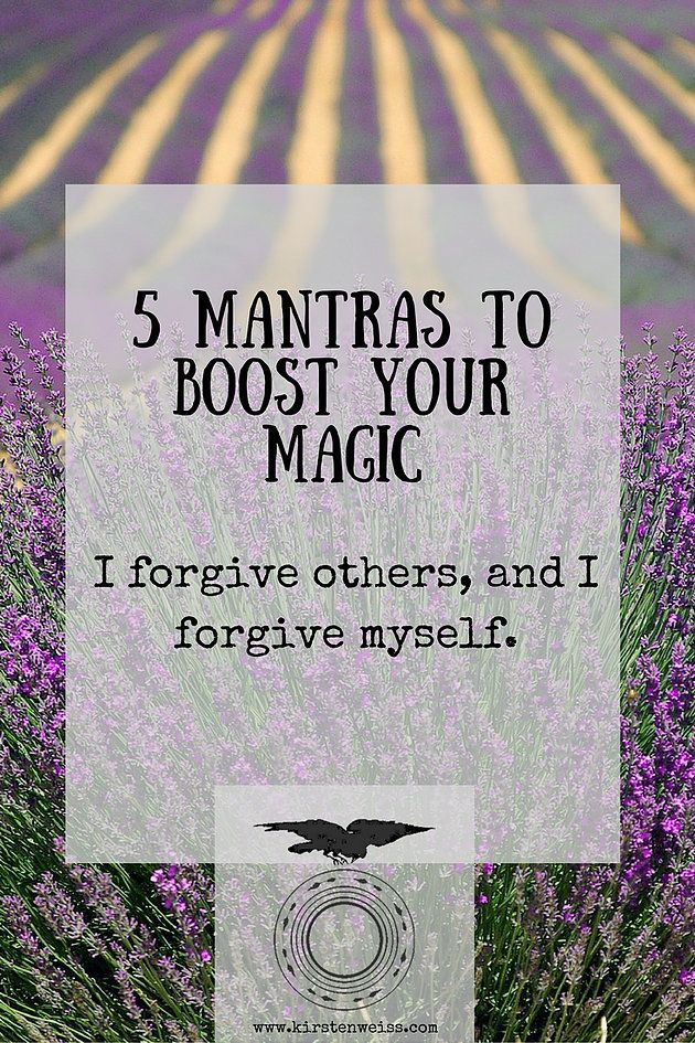 5 Mantras to Boost Your Magic. Click through to read more.