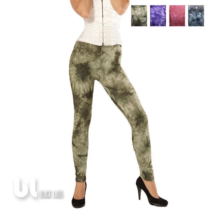 Leggings Batik Baumwolle Leggings Damen Vintage Leggings Retro Optik Treggings in Kleidung & Accessoires, Damenmode, Leggings   eBay!