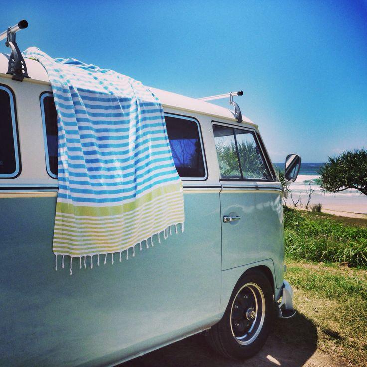 Rainforest Traveller Towel #turkishtowel #travel #beach #summer #coast #combivan #vw #surfing