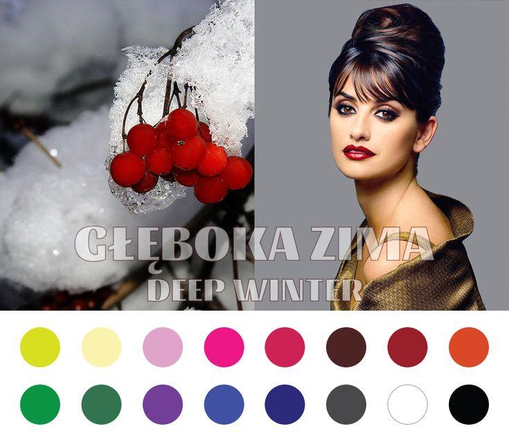 Deep Winter (Dark Winter) color palette #coloranalysis