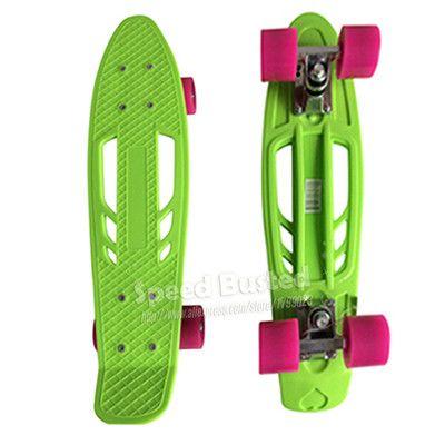 "2016 New Hollow Portable Peny Board 22"" Complete Pnny Skateboard Plastic Mini Skate Longboard Retro Cruiser long skate board"