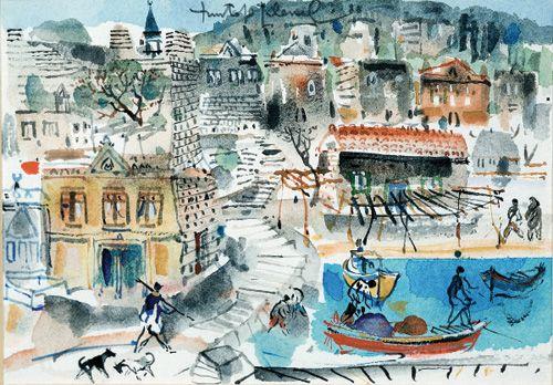 Babakale by Turkish painter Mustafa Pilevneli