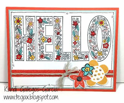 teojax: Hello - a fun card to color, Dreamin' Big - Scrapbooking stamp set, CTMH, Close to My Heart, Shin Han Markers