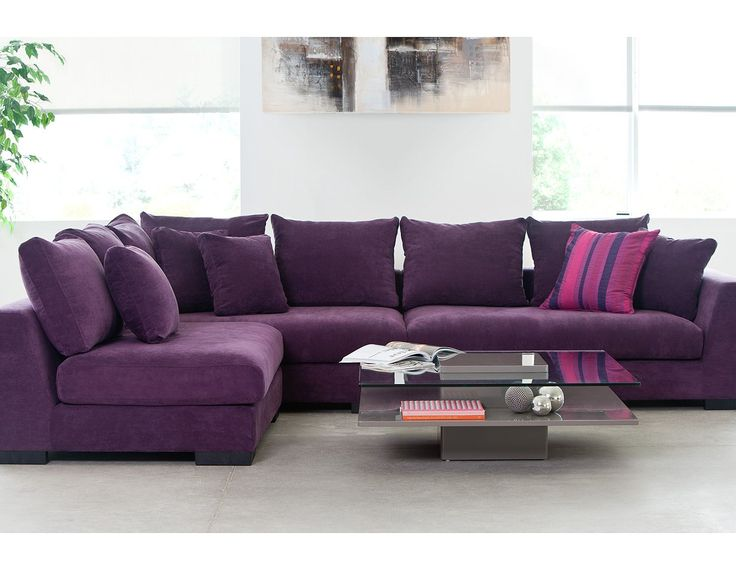 Living Room  Sectional Sofas  Cooper (Purple) *Faints* A couch - purple living room set
