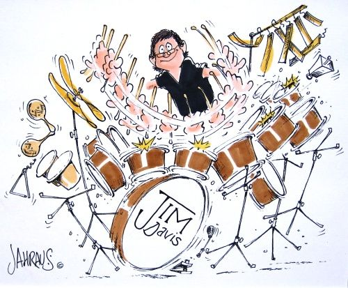 Drummer Dave By tonyp   Media & Culture Cartoon   TOONPOOL   Cartoons About Drummers