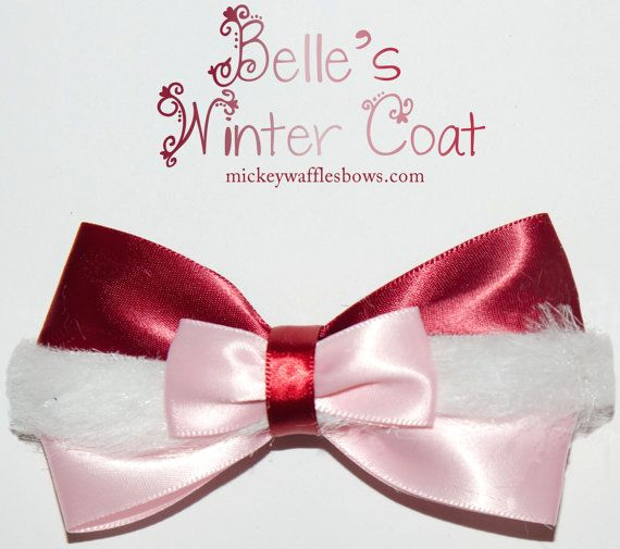Belle's Winter Coat Hair Bow