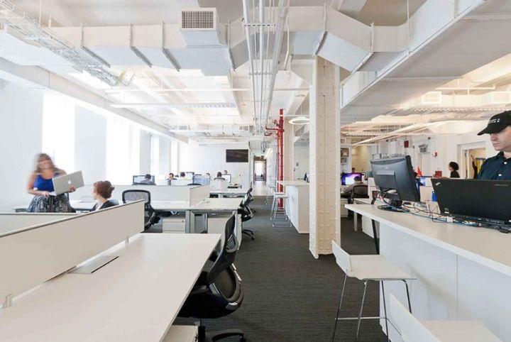 Стильный офис медиа-провайдера Viggle в Нью-Йорке, США