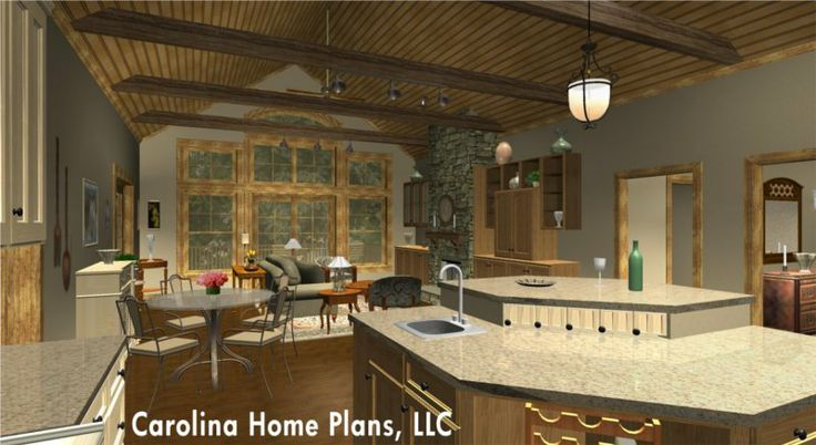 17 best images about sophisticated rustic house plans on for Open floor plans with vaulted ceilings
