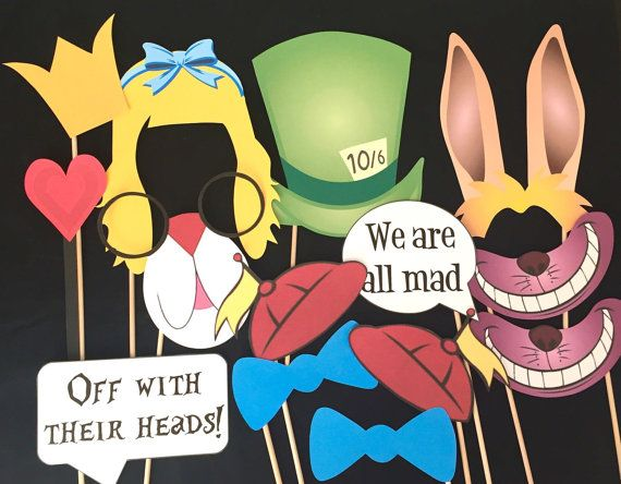 Alice In Wonderland Photo Booth Props by IGotMadProps on Etsy