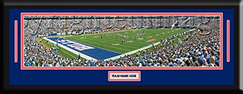 NFL- Buffalo Bills Ralph - Wilson Stadium Framed Panoramic With Team Color Double Matting & Name plaque