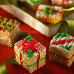 Making Rice Krispie Chrismas Tree treats and shapes Recipe-How to Make Different Rice Crispy Christmas Decorations