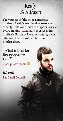 Renly Baratheon - game-of-thrones Photo