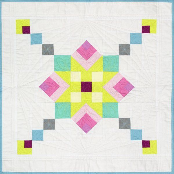 Mini quilt pattern Kaleidoscope by Cherie Grzych, a free pdf download at RJR Fabrics