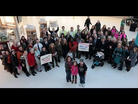 A Northern Ireland Welcome - the complete airport flash mob welcome! - YouTube