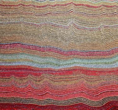 """Saatchi Online Artist sara willett; Painting, """"Red and Gold"""" #art"""