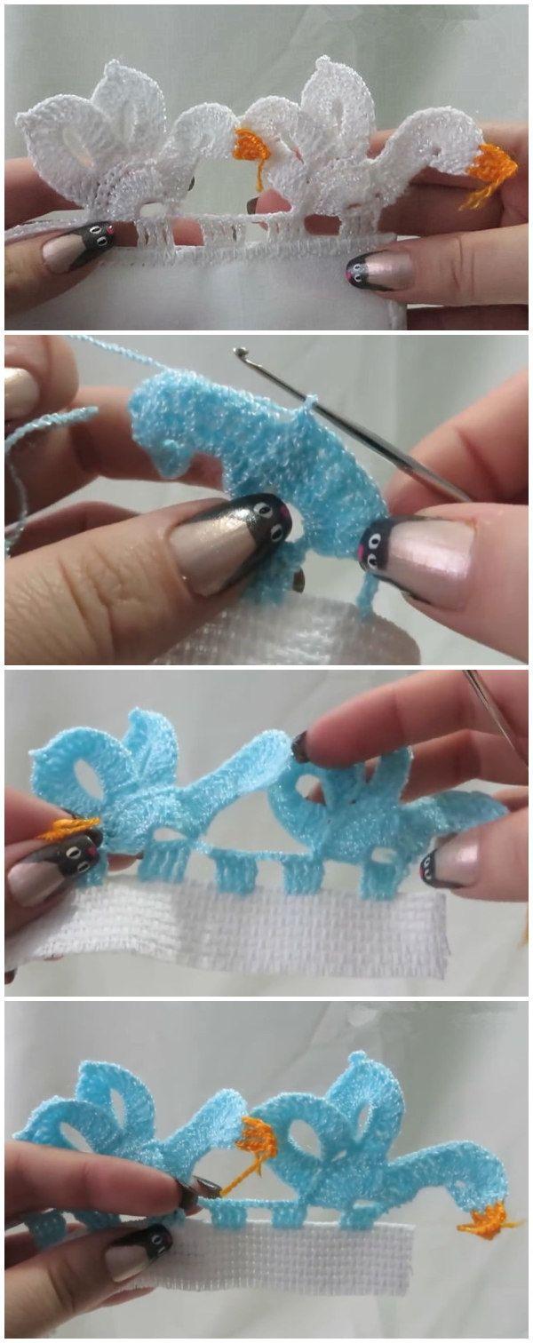 Crochet Swan Edging With Video Tutorial