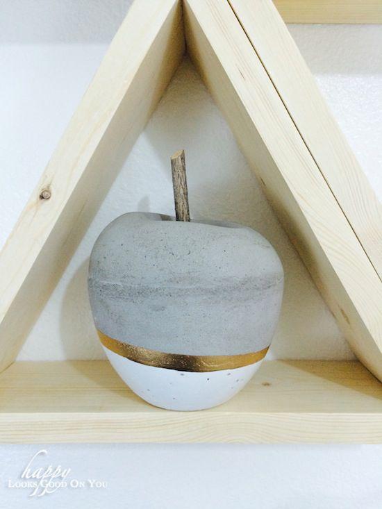DIY concrete apple