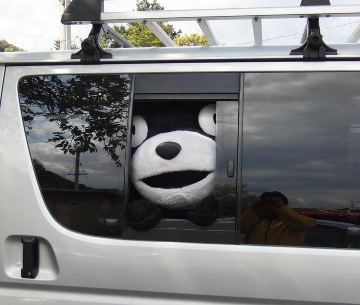 くまモンと車