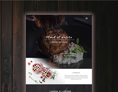 """Check out new work on my @Behance portfolio: """"Food website""""…"""