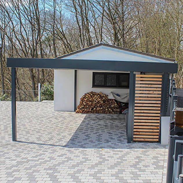 Carport mit Holzelementen : Klassische Garagen & Schuppen von ESB-Fertiggaragen und Carports