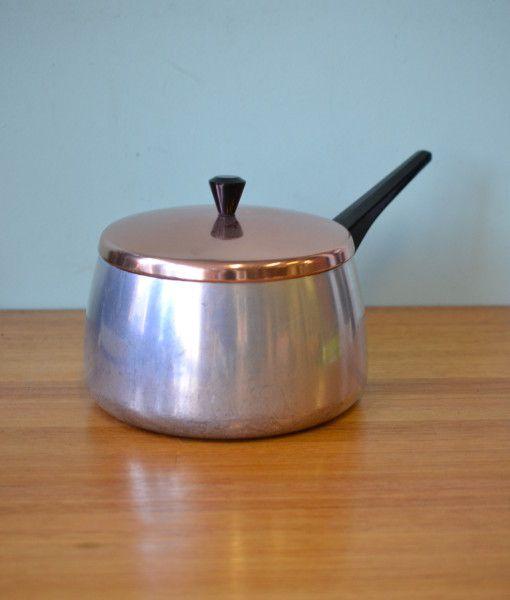 Mid century anodised Saucepan pan