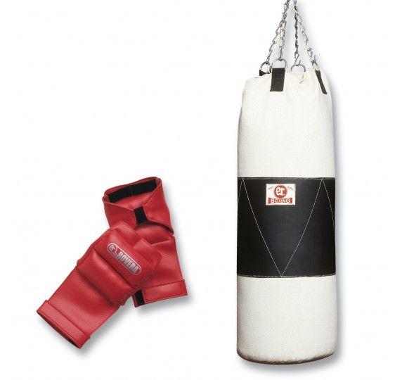 Composto da guantoni e sacco zavorrabile. Il sacco, venduto vuoto, può essere riempito a piacimento (fino a un massimo di 30kg). I guanti, in nappa sintetica, proteggono le mani durante l'esercizio.