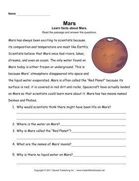 Mars Comprehension