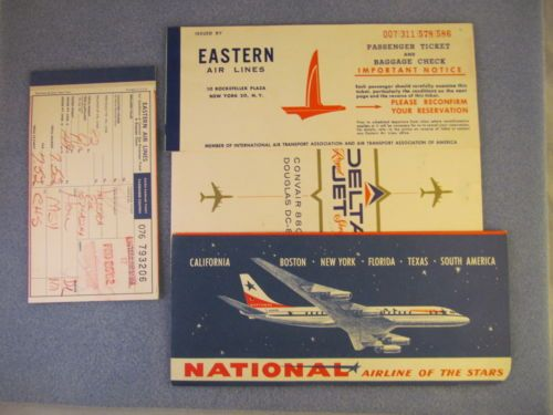 Small Lot of Vintage Airline Tickets Baggage Claims Boarding PASSES | eBay