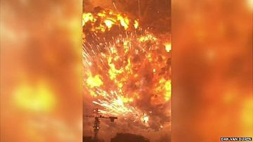 Explosions Tianjin - equivalent of 21 tonnes of TNT. 700 metric tonnes of cyanide were in that warehouse. 8/17/15