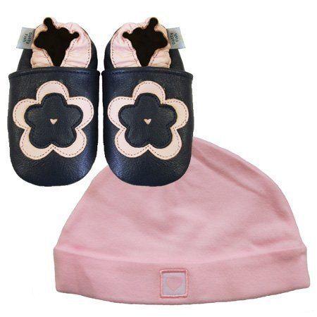 Neue weiche Leder Babyschuhe Marineblaue Blumen & rosa Hut Geschenkset 0-6 Monate Dotty Fish, http://www.amazon.de/dp/B00D42TCDC/ref=cm_sw_r_pi_dp_gNCdsb1EMKHSK