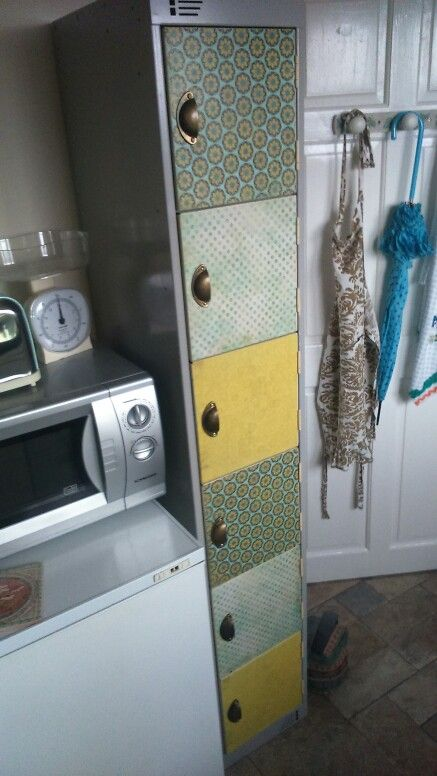 Up-cycled locker now kitchen unit :-)