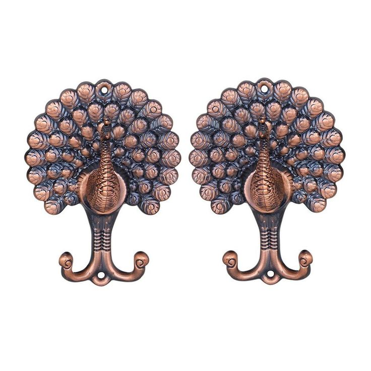 Add a touch of elegance to any room with this set of classic curtain hooks. This pair of curtain tiebacks will go well with any home decor and grace your room space. Solid curtain tiebacks with a stunning peacock design that is perfect for securing your curtains. | eBay!