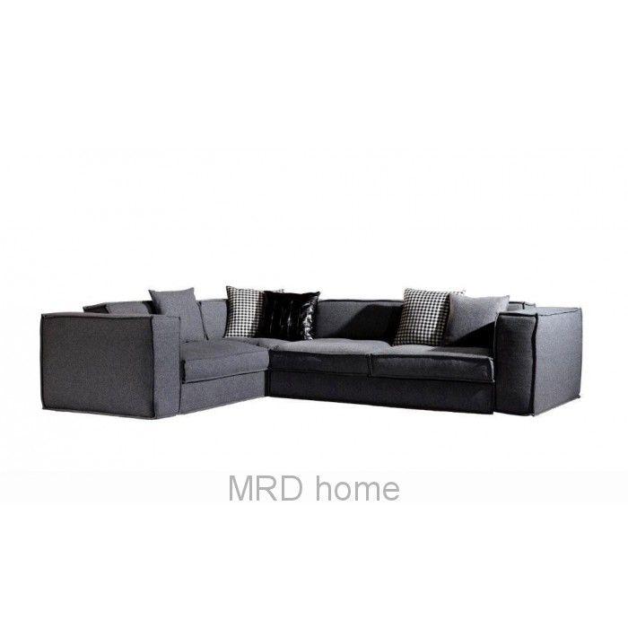 Zotos Sofa Charcoal Felt | Sofas | MRD HOME