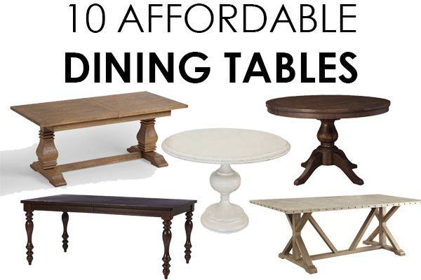 We share the most AFFORDABLE dining tables to help you select the perfect table for your dining room. From farmhouse style to transitional dining tables.
