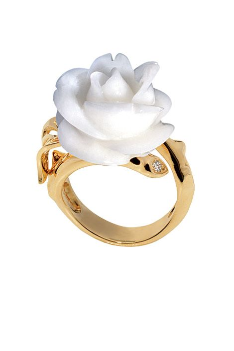 Kappa Delta - white rose Dior Fine Jewelry.
