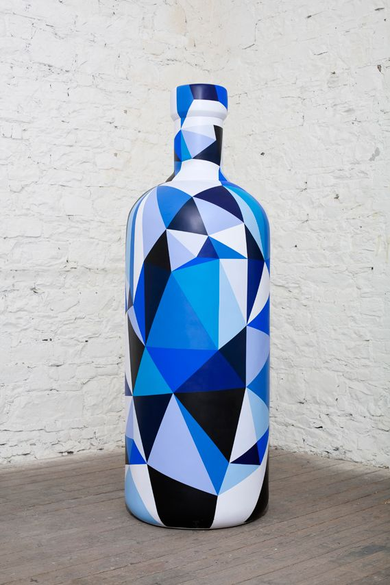Artists Customize Eight-Foot Tall Absolut Bottles For ABSOLUT Fringe 2011 - DesignTAXI.com